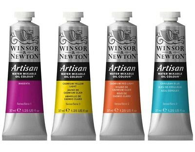 1 tube x Winsor & Newton Artisan Water Mixable Oil Colour 37ml,  in 40 colours