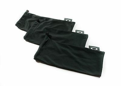 Oakley 3 Pack - Black Micro Fiber Soft Cloth Sunglasses Cleaning Storage Bags