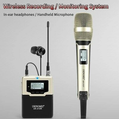 UHF DSLR Camera Wireless Handheld Microphone Mic System for Video Camcorder DV