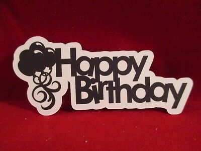 14 Balloon Happy Birthday Sentiment Die Cuts................cardmaking