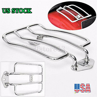 Motorcycle Rear Seat Luggage Shelf Support Frame Rack For Stock Solo Seat Harley