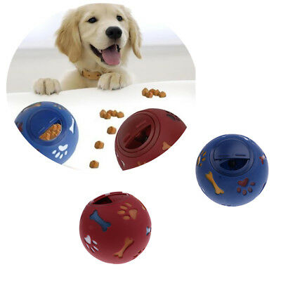 Food Treat Ball Dog Play Toy Refillable Fun Puppy Training Activity for Your Pet