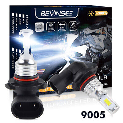 Fit Can-Am Renegade 500 1000 800 100W LED White Headlight Bulbs 3000LM 415129249