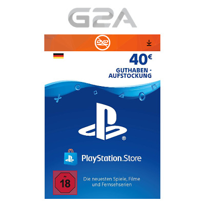 40€ Eur PlayStation Network Card - Sony PSN PS3 PS4 PS Vita 40 Euro Guthaben DE