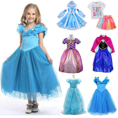 Princess Elsa Dress Fancy Costume Anna Girls Party Kids Cosplay Frozen Birthday  sc 1 st  PicClick UK & PRINCESS ELSA DRESS Fancy Costume Anna Girls Party Kids Cosplay ...