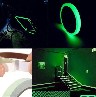4M DIY Waterproof PVC Tape Sticker Luminous Tape Safety Strips Glow in The Dark