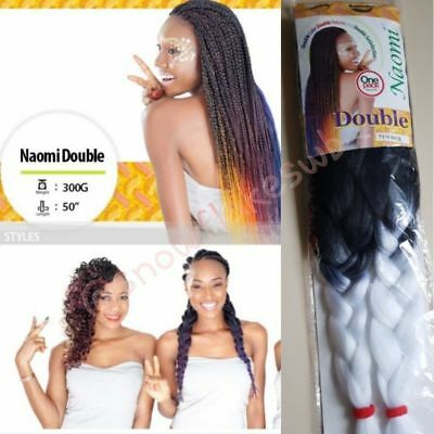 Xpression Ombre Two Tone Braid Twist Pre Pulled Stretched Hair Diff Color Length