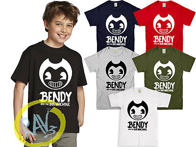 Bendy and The Ink Machine Animation Horror Game Inspired Kids Adult T-Shirt ■