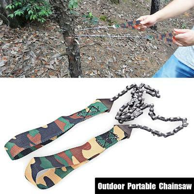 Emergency Survival Pocket Chain Saw ChainSaw Yard Hand Tool Gear Camping Hiking