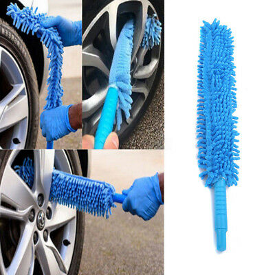 Extra Long Mircofibre Noodle Chenille Alloy Wheel Cleaner Car Wash Brush Blue