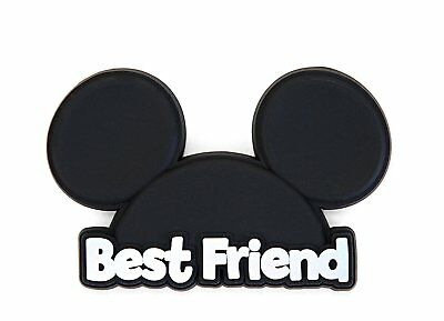 Novelty Magnet - Disney - Mickey Head - Best Friend Soft Touch PVC New 85794