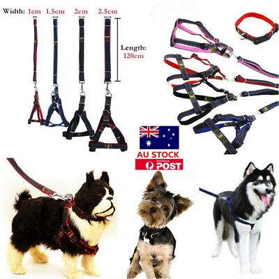 Pet Dog Puppy Kitten Lead Leash Adjustable Harness Training Walking Collar Rope