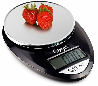 Precise Pro Digital Kitchen Food Scale 1g to 12 lbs Capacity in Stylish Black
