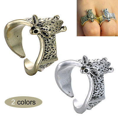 Punk Style Bat Antique Finger Ring Alloy Animal Wedding Bands Ring Jewelry 17mm