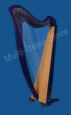 HB Beautiful 38 Strings Lever Harp with free bag Antique Christmas Gift