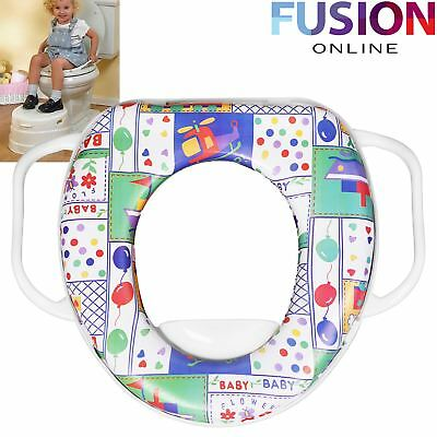 Potty Training Toilet Seat Baby Soft Padded with Handles Toddler Kids Child Safe