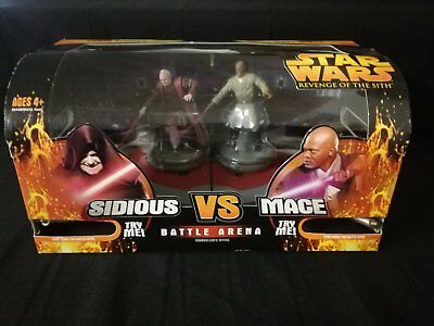 Star Wars Hasbro Revenge of the Sith Battle Arena Sidious vs. Mace