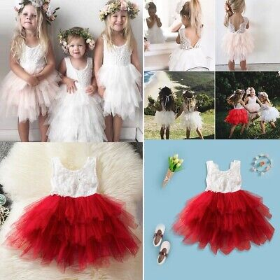 Baby Tutu Tulle Christening GownBaby Toddler Infant Girl Birthday Party Dress