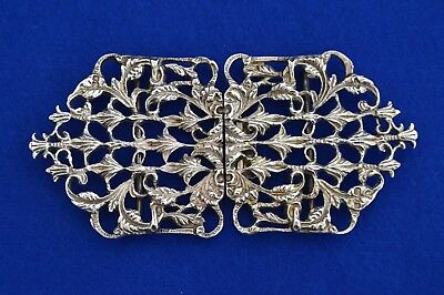 Solid Sterling Silver Nurses Belt Buckle - London 1973 -  NHS  Hospital - grad