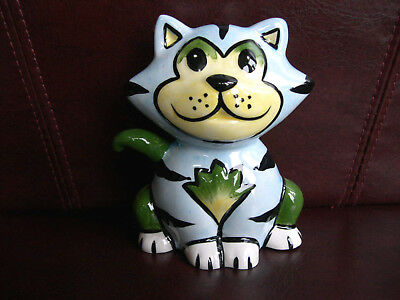 Lorna Bailey Cat Simba Very Colourful And Collectable Signed On The Base