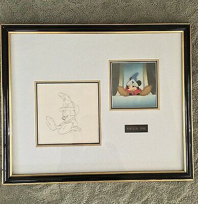 "1940 Walt Disney ""Fantasia"" Animation Cel Mickey Mouse The Sorcerer's Apprentice"