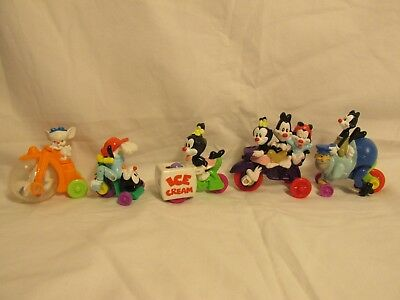 Warner Brothers Anamaniacs 1993 McDonalds Cars Figures 5 pc set Cake Toppers 3""