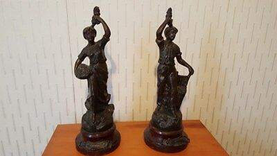 Two Spelter Figurines