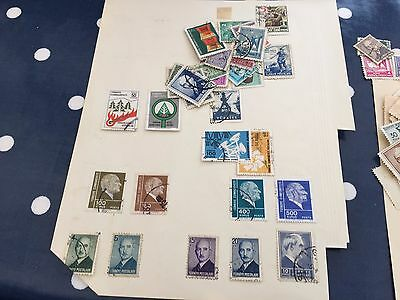 Turkey assortment of stamps loose and on album pages