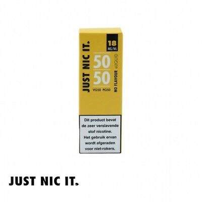 Just Nic It 50/50 Nic Shot Vape Juice E Liquid Flavourless Free Next Day Deliver