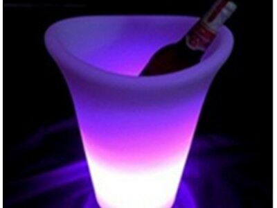 LED Ice Bucket Colour Changing Champagne Wine Drinks Cooler Bar Party Occasions