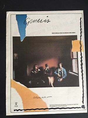 "Genesis 1981 Original 12X17"" LP Print Promo Ad For The Album ""Abacab"""