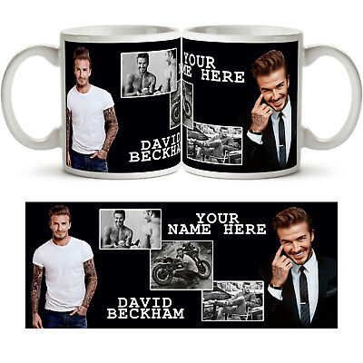 DAVID BECKHAM PERSONALISED Ceramic Photo Mug Cup Tea Coffee Add Name Gift New