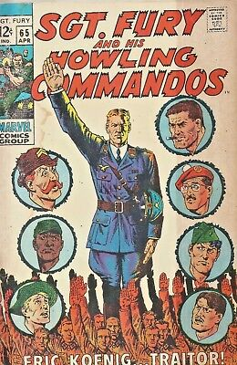 Sgt. Fury And His Howling Commandos #65  Traitor  Marvel  Silver-Age 1969