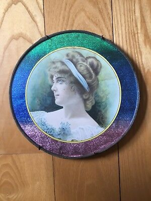 Victorian Antique Girl Woman Chimney Flue Cover