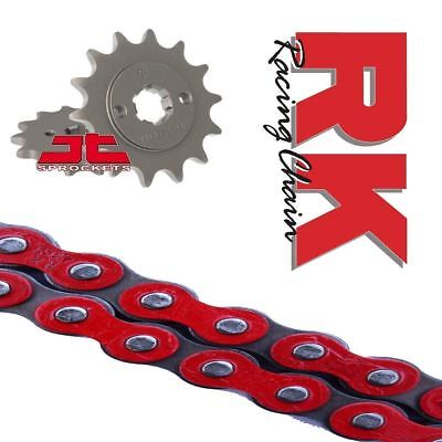 Yamaha YZF-R125 Chain and Sprocket Kit Red RK Racing JT Sprockets 2008-16