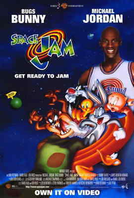 Space Jam (1996) Style-A Michael Jordan Bugs Bunny Looney Tunes Poster 27x40 NEW