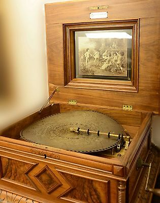 "De Luxe Polyphon 15,5"" - Antico Disco Music Box"
