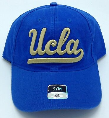 NCAA UCLA Bruins Adidas Adult Slouch Flex Fit Curved Brim Cap Hat Beanie NEW ! 63673e36d54d