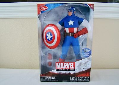 "Disney Store Marvel Ultimate Series Captain America Action Figure 11.5"" 2016 NIB"