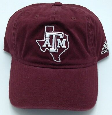 cheap for discount d9eeb cdb8f NCAA Texas A M Aggies Adidas Slouch Flex Fit Curved Brim Cap Hat ...