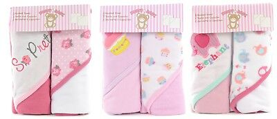 Snugly Baby Girls Hooded Towels 2-pack BRAND NEW!!!!!