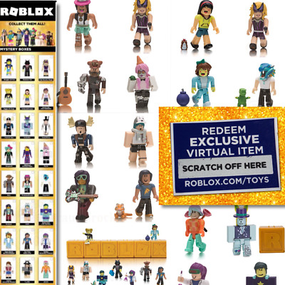 NEW Roblox Celebrity Gold Series 1 2 3 Mystery Box Action Figures & Unused Codes