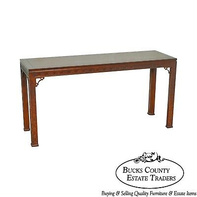 Kindel Mahogany Chippendale Style Console Table