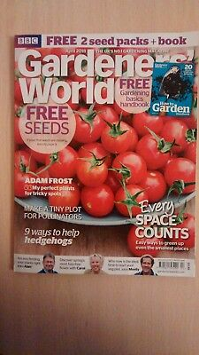 BBC Gardeners World Magazine April 2018 Help Hedgehogs, Pollinators,Small Spaces