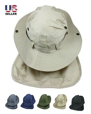 Boonie Neck Flap Cover Hat Fishing Hunting Sun Protection Wide Brim Bucket Cap