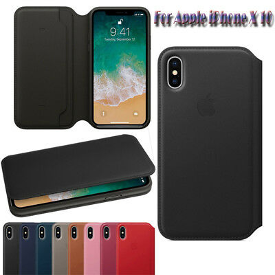 For Apple iPhone X XR XS MAX 6 7 8 Original Leather Folio Cover Case Wallet Case