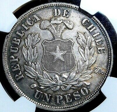 1882So Chile Peso Xf Details Ngc Certified   A29-122