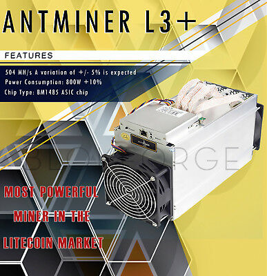 BITMAIN ANTMINER L3+ In stock ready to ship.