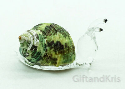 Figurine Animal Hand Blown Glass Snail - GNHM015