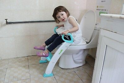 New Baby Toddler Safety Potty Training Toilet Seat Step Ladder Loo Trainer Syste